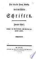Des Grafen Franz Kinsky  vermischte Schriften