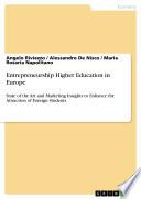Entrepreneurship Higher Education In Europe book