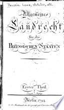 Allgemeines Landrecht für die Preussischen Staaten