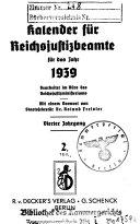 Kalender F  r Reichsjustizbeamte