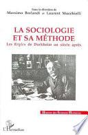 La sociologie et sa m  thode