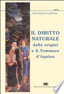 Il diritto naturale dalle origini a S. Tommaso d'Aquino