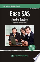 Base SAS Interview Questions You ll Most Likely Be Asked Book PDF