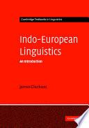Indo European Linguistics