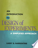 An Introduction To Design Of Experiments