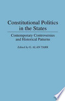 Constitutional Politics In The States book