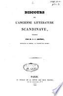 Discours sur l'ancienne littérature scandinave