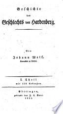 Geschichte des Geschlechts von Hardenberg. Mit Urkunden
