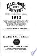 Baltimore City Directory