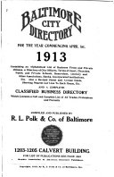 Baltimore City Directory : ...