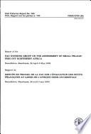 Rapport Du Groupe de Travail de la FAO Sur L'évaluation Des Petits Pélagiques Au Large de L'Afrique Nord-occidentale
