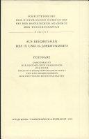 Aus Reichstagen des 15. und 16. Jahrhunderts