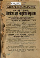 California Medical and Surgical Reporter