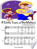 O Little Town of Bethlehem - Easy Piano Sheet Music Junior Edition
