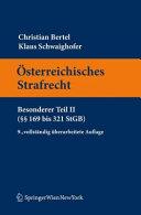 sterreichisches Strafrecht  Besonderer Teil II       169 bis 321 StGB