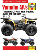 Yamaha Atvs Timberwolf Bruin Bear Tracker 350er And Big Bear 1987 2009