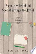 Poems are Delightful Special Sayings are Joyful Book PDF