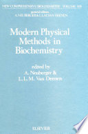 Modern Physical Methods in Biochemistry