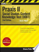CliffsNotes Praxis II  Social Studies Content Knowledge  0081   2nd Edition