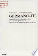 illustration Germano-fil, guide des sources documentaires sur le monde germanique disponibles à Paris et en région parisienne