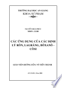 CAC DINH LY