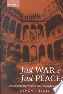 Just War Or Just Peace