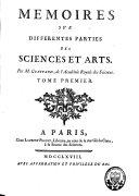Memoires sur differentes parties des sciences et arts