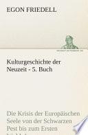 Kulturgeschichte der Neuzeit   5  Buch