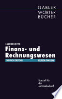 Fachbegriffe Finanz  und Rechnungswesen