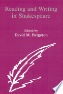 Reading and Writing in Shakespeare