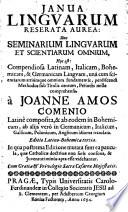 Janua linguarum reserata aurea  sive seminarium linguarum et scientiarum omnium  etc   Editio latino bohemica tertia