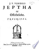 download ebook j. v. v.'s jephtha, of offerbelefte. treurspel in five acts and in verse pdf epub