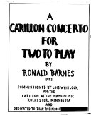 A Carillon Concerto For Two To Play