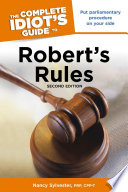 The Complete Idiot s Guide to Robert s Rules  2nd Edition