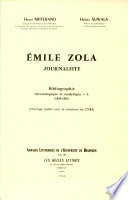Emile Zola Journaliste