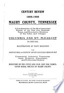 Century Review  1805 1905  Maury County  Tennessee