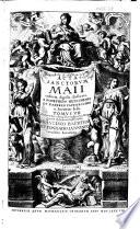 Acta sanctorvm Maii  ultimos dies et appendices priorum