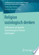 Religion soziologisch denken