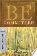 Be Committed  Ruth   Esther