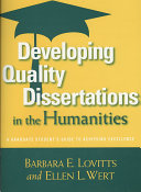Developing Quality Dissertations in the Humanities