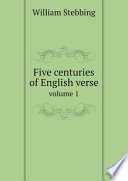 Five centuries of English verse