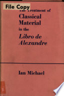 The Treatment of Classical Material in the Libro de Alexandre