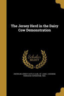 JERSEY HERD IN THE DAIRY COW D