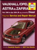 Vauxhall Opel Astra And Zafira Diesel Service And Repair Manual