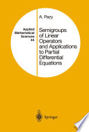 Semigroups of Linear Operators and Applications to Partial Differential Equations