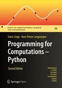 Programming For Computations Python