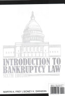 Introduction to Bankruptcy Law  Loose Leaf Version