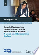Growth Effects and the Determinants of Female Employment in Pakistan