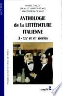 Anthologie de la litt  rature italienne