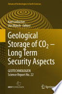 Geological Storage of CO2     Long Term Security Aspects
